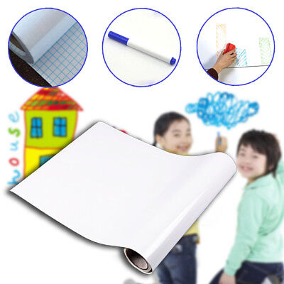 200*45 Whiteboard Wall Stickers PVC Dry Erase Writing Removable Message Paper