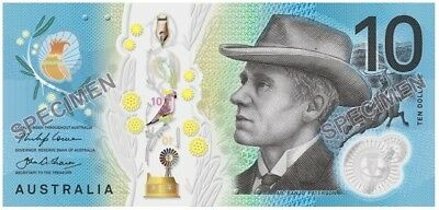 AUSTRALIA NEW $10 2017 General Prefix Next Generation 1 UNC Polymer Banknote