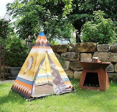 kinder abenteuer zelt spielzelt wigwam kinderzelt tipi indianerzelt 95x95x130 eur 19 95. Black Bedroom Furniture Sets. Home Design Ideas