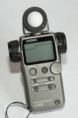 Sekonic L-608 Light Meter (Spot/Flash/Incident) Immaculate Condition