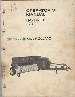 Vintage Original Sperry New Holland Hayliner 320 Owners Manual
