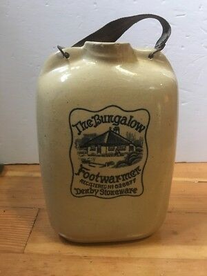 Antique Hot Water Bottle Foot warmer Derby Stoneware The Bungalow
