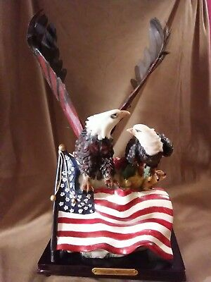 "Eagles US Flag • 15x8""  Meg Lee Collection light up statue"