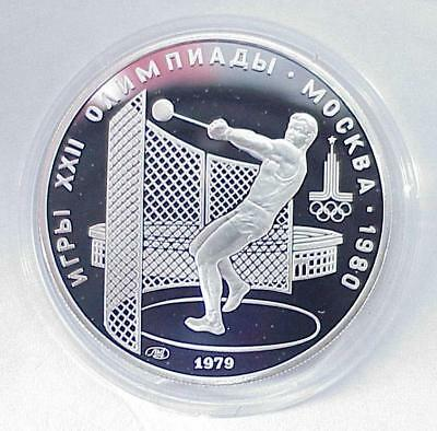 "1980y.  RUSSIAN SOVIET 999"" SILVER COIN MONEY 5 RUBLES OLYMPIC MOSCOW GAMES RARE"