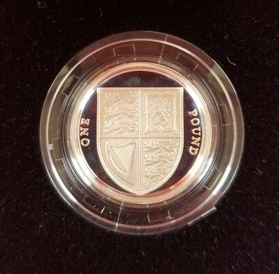 2009 UK Shield Of The Royal Arms £1 Silver Proof Coin