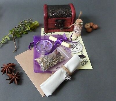 HERB - SPELL Kit Chest Witch Pagan Wicca Witchcraft Magic Blessing Rite
