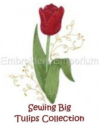 Sewing Big Tulips Collection - Machine Embroidery Designs On Cd