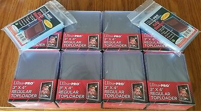 200 Ultra Pro Regular 3x4  Size Top Loaders and 200 Free Sleeves Free Shipping!