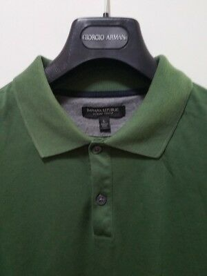 36caf447cc4 MENS BANANA REPUBLIC Polo Luxury Touch Large - $14.99 | PicClick