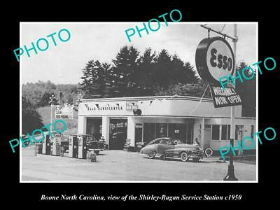 OLD LARGE HISTORIC PHOTO OF BOONE NORTH CAROLINA, THE ESSO SERVICE STATION c1950