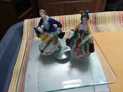 Two German Figurines  - Man And Woman - 3 Inches
