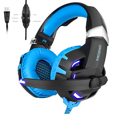 ONIKUMA K2 Stereo 7.1 Surround Sound Gaming Headsets w/Mic for PS4 PC Laptop