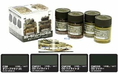 Model_kits GSI Creos CS581 Mr. Color Modulation Set Olive Drab Version MA