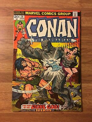 Conan The Barbarian #36 (Marvel 1974) VS Stone God~Buscema Art~Bronze Age~Key~VF