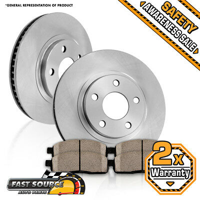 Front Brake Rotors And Ceramic Pads For 2017 2016 Nissan Altima