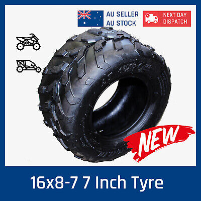 "7"" 16x8.00-7 Tubless Tyre Tire for 70cc/110/125cc ATV Quad Bike Buggy Go Kart"