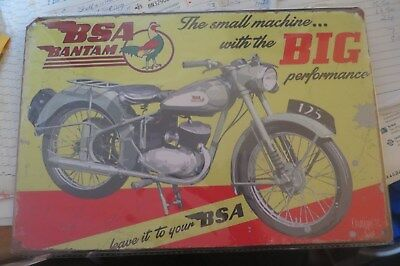bsa bantam motorcycle  metal sign MAN CAVE brand new or for the  bar