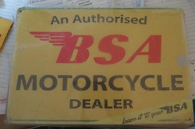 bsa motorcycle dealer metal sign MAN CAVE brand new or for the  bar
