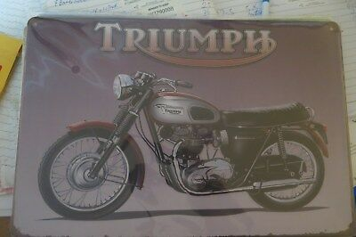 triumph motorcycle metal sign MAN CAVE brand new or for the  bar