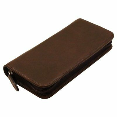 Stationery Pilot Round Zip Pen Case Pensable PSPC 01 DBN Dark Brown MA