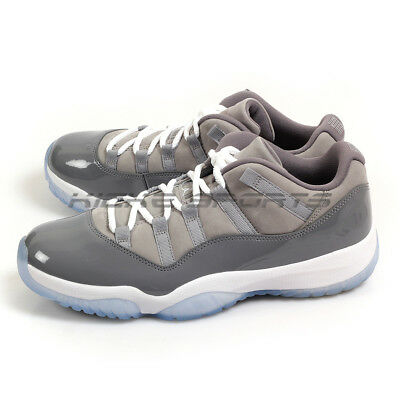 0193edae5ff2 Nike Air Jordan 11 XI Retro Low Cool Grey Medium Grey White-Gunsmoke 528895