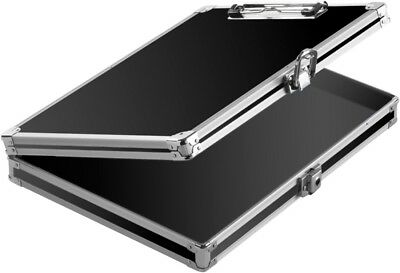 Vaultz Locking Storage Clipboard Black/Silver