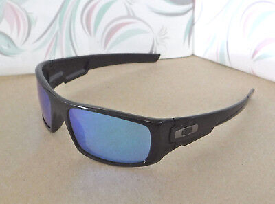 51f80dc1ec New Oakley Crankshaft Polarized Sunglasses Black   Custom Blue Irid w  Gunmetal O