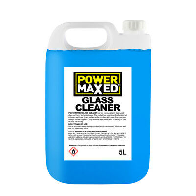 5L Window Glass Cleaner 5 Litres Concentrate Bug Remover - Power Maxed GC5000