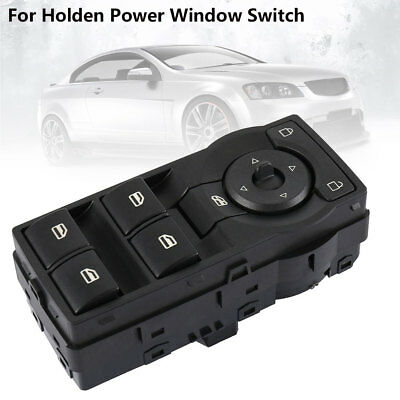 Black Master Power Window Switch for Holden Commodore VE With Green Illumination