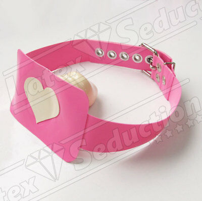 HEAVY RUBBER SISSY MOUTH PATCH GAG - Gummi Latex Fesseln Harness Transvestite
