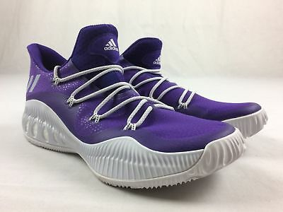 newest 1715f 29a67 NEW adidas Crazy Explosive Low - Purple Basketball Shoes (Men s 13.5)