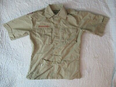BSA  Boy Scout Uniform Shirt Youth MEDIUM SS 67%Cotton Centennial