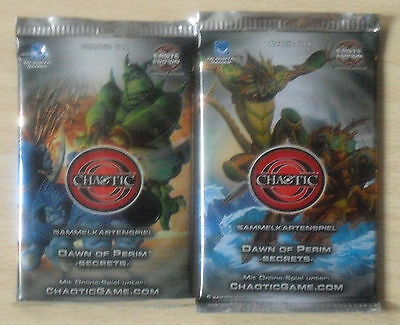 Chaotic - Dawn of the Perim Secrets -  2 Booster  - 1 Edition (Neu) deutsch