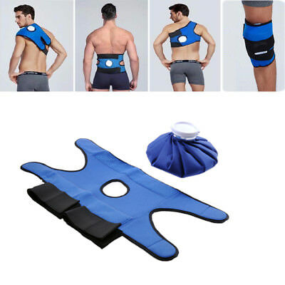 Pain Relief Hot Cold Therapy Ice Bag Gel Pack Wrap Strap Knee Shoulder Back Band