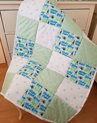 Peter Rabbit Cot Quilt Patchwork Quilt Baby Bedding Blanket Playmat Handmade