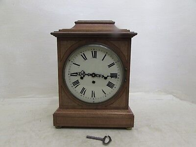 Vintage FHS Mahogany & Inlaid Walnut Bracket Clock 340-020 Westminster Chime