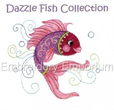 Dazzle Fish Collection - Machine Embroidery Designs On Cd