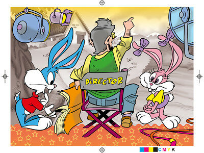 Tiny Toons Color Guide Print Test Transparency Artwork Warner Bros Magazine.