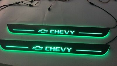 LED Door Sill Scuff  Light For Chevy