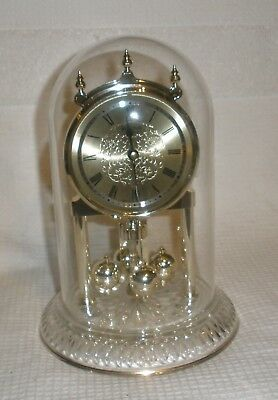 Bulova Clock Glass Dome Lead Crystal bottom for parts repair or not working
