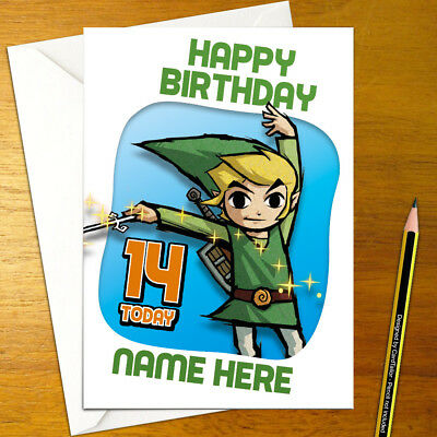 Wind Waker Personalised Birthday Card Nintendo Legend Of Zelda