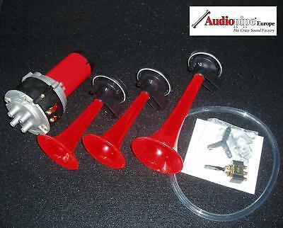 3 Klang Melodie Fanfare Druckluft Horn Hupe 130 db  ** sehr laut **