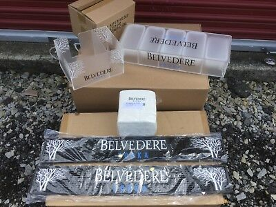 Belvedere Vodka bar kit bar mat condiment tray napkin holder barware *BRAND NEW*