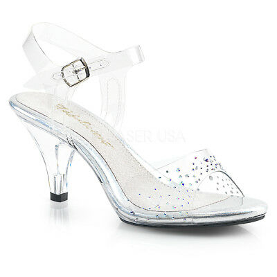 "FABULICIOUS Belle-330RS 3/"" Heel Party Prom Bridal Ankle-Strap Sandal"