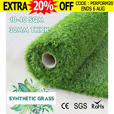 10-40 SQM Synthetic Turf Artificial Grass Plastic Plant Fake Lawn Flooring 30MM