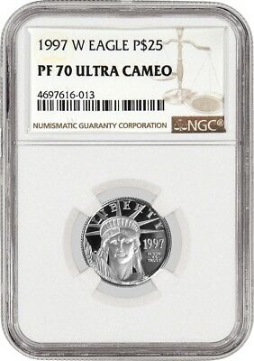 1997 W $25 Proof Platinum American Eagle NGC PF70 Ultra Cameo