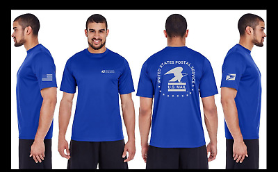 USPS Postal Post Office Performance Moisture Wicking And UV Protection T-Shirt