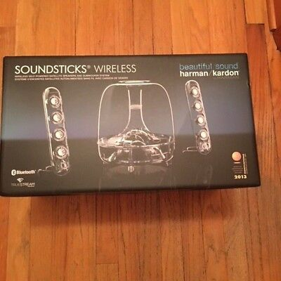 Brand New Harman Kardon SoundSticks Wireless BT Enabled 2.1 Speaker System