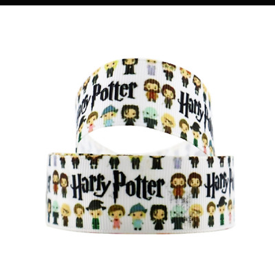 "Harry Potter Ribbon (white) 1m long 1"" wide"