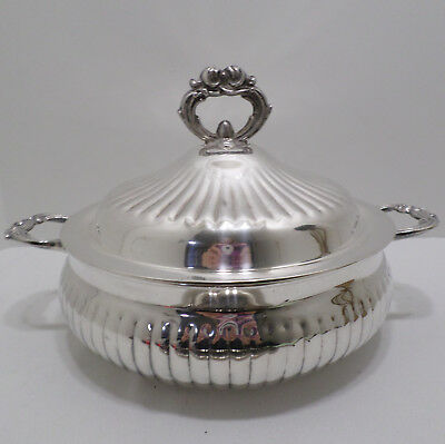 Vintage Leonard's Soup Tureen with Lid Silver Plated